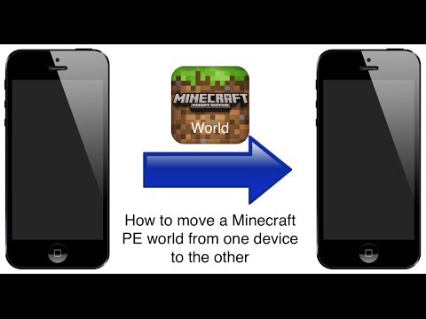 How to move a Minecraft PE world from one device to the other (iOS)