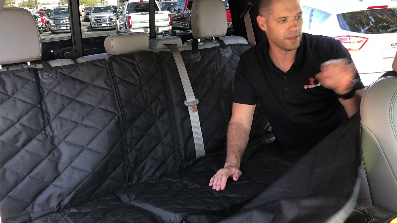 4Knines Crew Cab Truck Split Rear Seat Cover Features