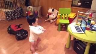 Baby dancing to Gangnam Style