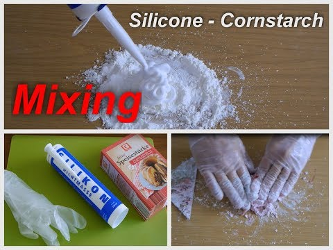 silicone  corn starch mixing - how to do (ratio, prozessing time)