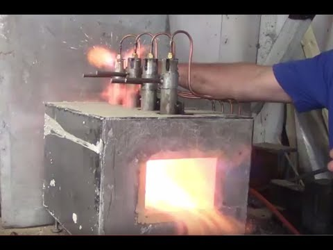 Propane forge/heat treat oven build for annealing hardening and tempering