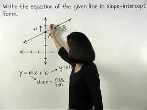 Writing Linear Equations - MathHelp.com - Algebra Help