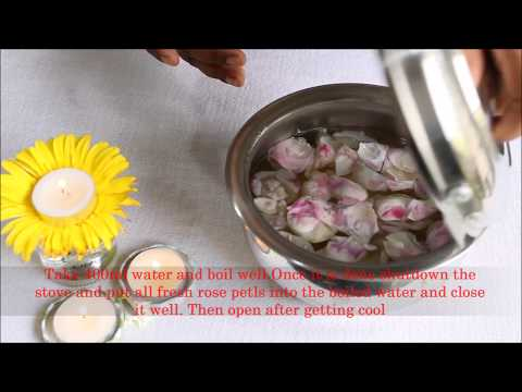 How to make Rose Water at home in Tamil | Tamil Beauty Tips