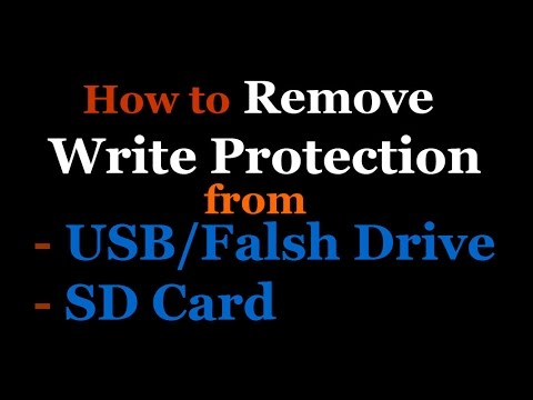 How to remove write protection from USB flash drive or sd memory card