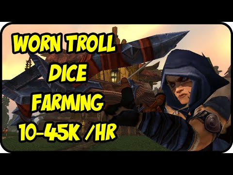 WoW Gold Farming Patch 6.2.4: Pickpocket Gold Making - Worn Troll Dice Farming - WoD Gold Guide
