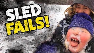 Sled Fails! | Funny Winter Videos | TBF December 2019