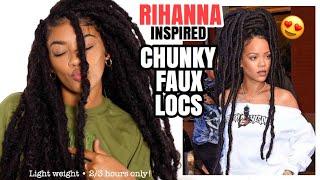 RIHANNA INSPIRED CHUNKY FAUX LOCS!   jasmeannn