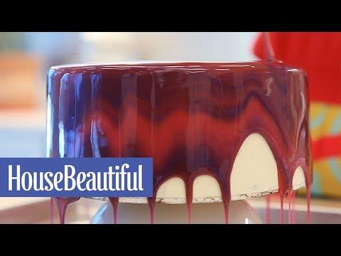Make Your Own Mirror Glaze Cake  | House Beautiful