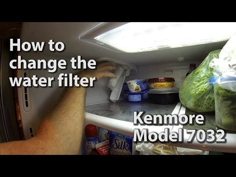 Changing the Water Filter - Kenmore 7032 Refridgerator