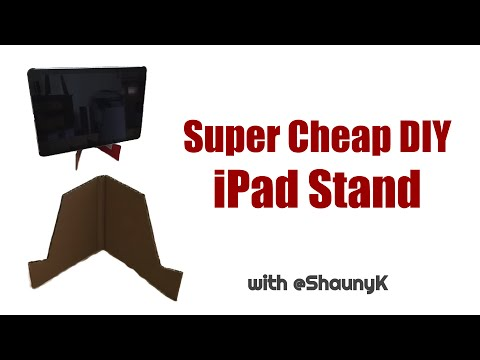 Easy, Quick DIY Cardboard iPad Stand - Cheap - Almost Free