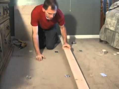 How to stop floor squeaks thru carpet