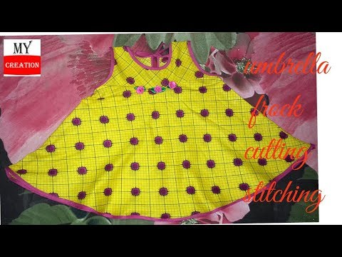 kids summer eid dress /umbrella frock for baby girl easy way to cut and stitch frock