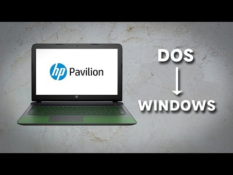 Quickie : Installing Windows on a DOS Laptop (Made on HP ak007tx)