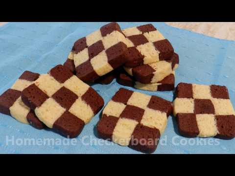 Homemade CHECKERBOARD COOKIES - Slice and Bake!