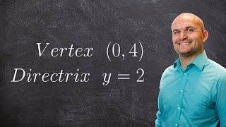 Pre Calculus Finding The Standard Form Of A Parabola Given Directrix