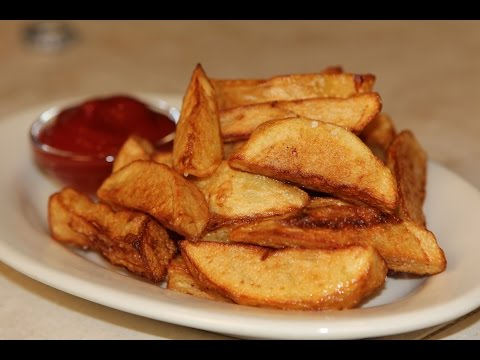 Fried Potato Wedges Recipe ( French Fries Recipe )