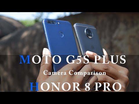 Moto G5s Plus  VS  Honor 8 Pro - Camera Comparison #VIDEO COMPARISON#SLOW MOTION# COMPARISON