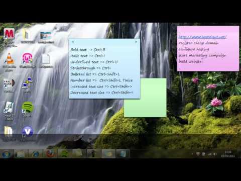 Sticky Notes Windows Desktop Program