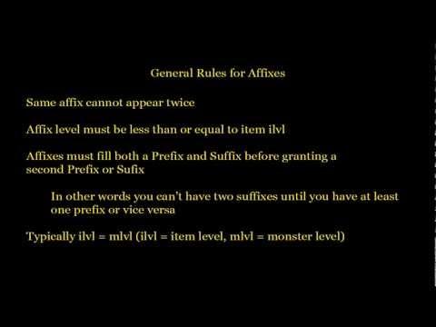 Diablo 3 Basics - Item Affixes