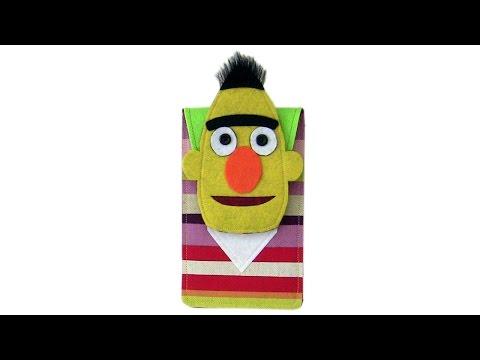 Seseme Street's Bert phone cover case DIY with free pattern