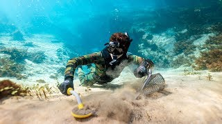 Found Lost Jewelry While Metal Detecting Underwater in Clear Water! (Best Finds of Jan.) | DALLMYD