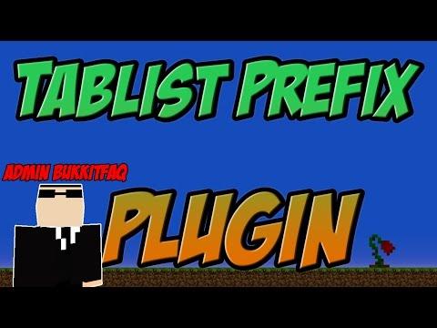 Tablist Prefix Bukkit Plugin Minecraft | 1.8 Spigot | German| | Tutorial |