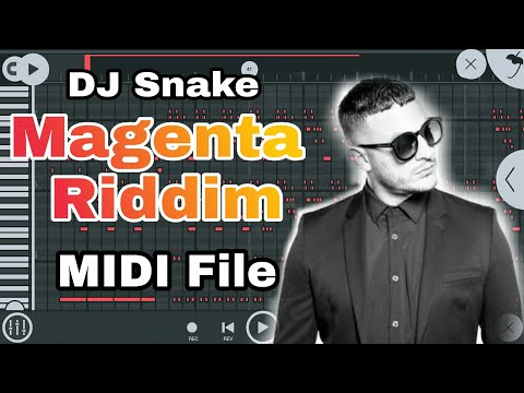 DJ Snake - Magenta Riddim FREE MIDI File Download in FL Studio Mobile 3