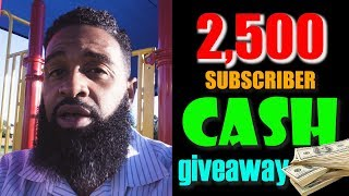 My 2500 Subscribers Cash Giveaway   Bearded Daddy Vlog Life Ep 89