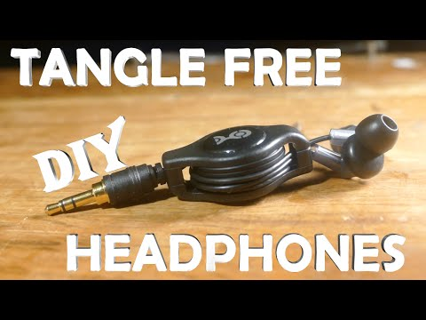 How To Make TANGLE FREE Headphones! - Automatic Windup (Never Deal With Tangled Headphones Again)