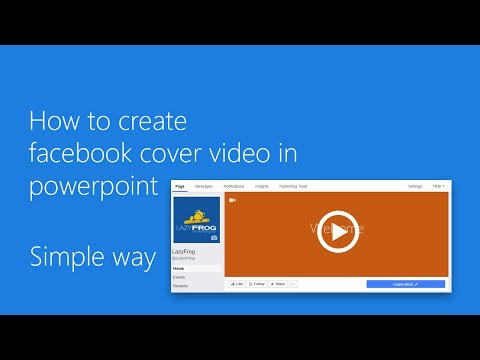 How to create facebook cover video (power point)
