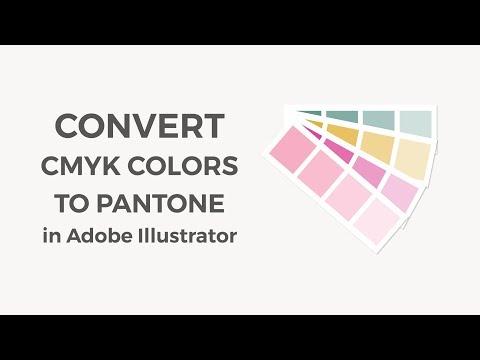 Convert RGB / CMYK colors to Pantone colors in Illustrator