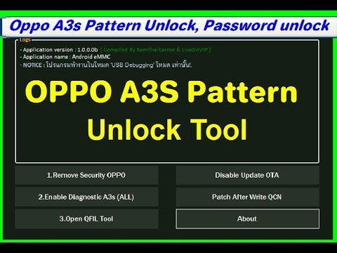 OPPO A3S All Security Unlock Tools Pin Password Network Unlock