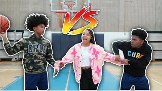 1V1 Basketball vs My Lil Brother FOR MY GIRL! (If He Wins She Gotta Go With Him To Seattle)