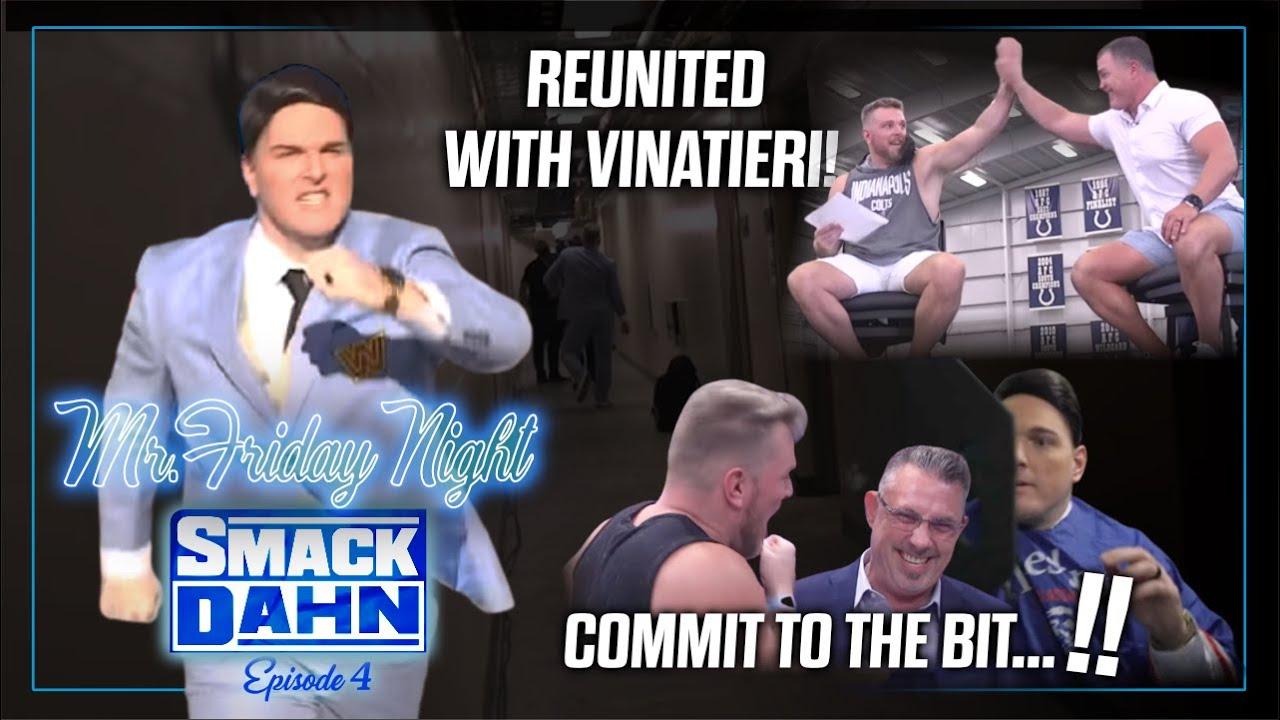 Pat McAfee Reunites With Adam Vinatieri, Bullied Into Shaving His Beard! | Mr. Friday Night Vlog #4