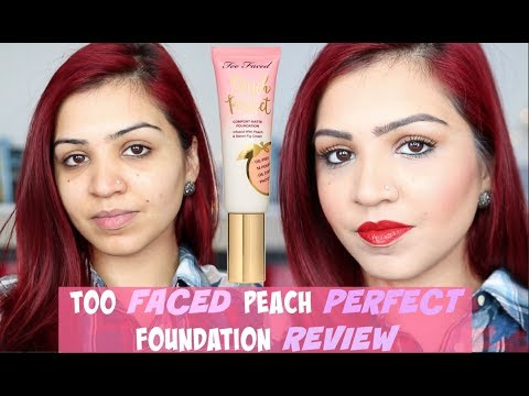 TOO FACED PEACH PERFECT FOUNDATION REVIEW | SABA ALI