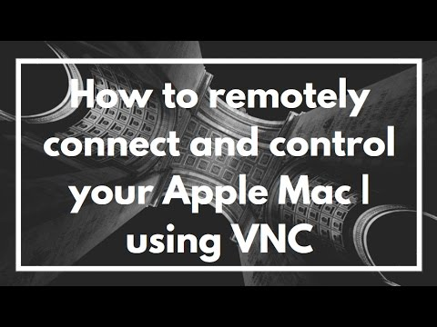 How to remotely connect and control your Apple Mac | using VNC | VIDEO TUTORIAL