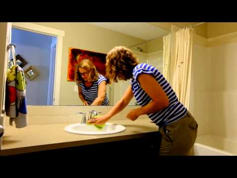 Simple, green, economical bathroom clean Part 2: Mirror, Sink, Counter