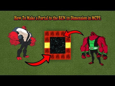 How To Make a Portal to the BEN 10 Dimension in MCPE (Minecraft PE)