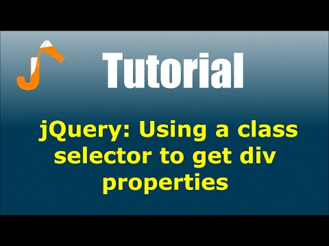 jQuery: Using a class selector to get div properties