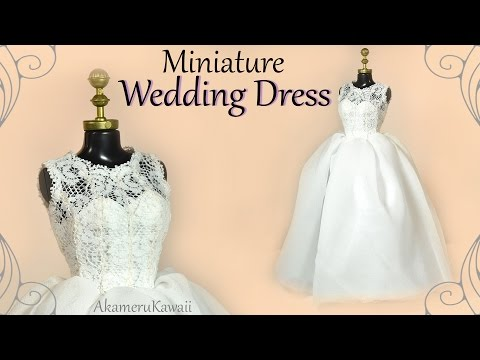 How to: Mini Wedding Dress - Doll / Barbie Tutorial