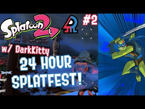 Splatoon 2 Splatfest #10 (Raph VS Leo) Part 2 [FIRST EVER CROSS TEAM 24 HOUR SPLATFEST!!!]