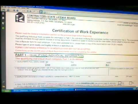 Contractors State License Board Application Page 3 of 3  www.ACLC.com