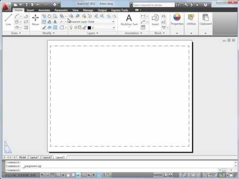 AutoCAD Plotting Tutorial, Plot a Drawing Layout in AutoCAD 2011