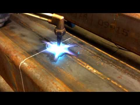 How to Hand-Torch a Circle with Oxy Acetylene into Metal Tube Steel