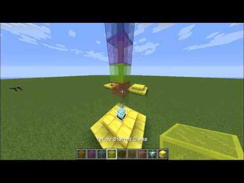 Minecraft Rainbow Beacon Tower