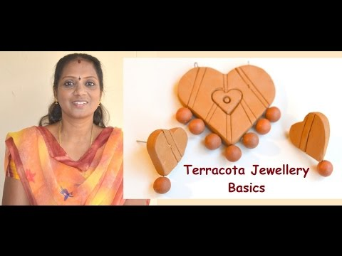 Terracotta Jewelry Basics: How to make design, use connectors, how to bake..