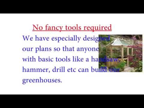 Scale plans for Backyard Greenhouse|Full color step by step scale plans for Backyard Greenhouse
