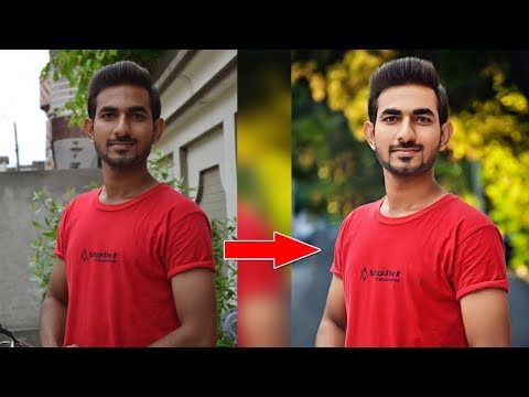 Photoshop Cs6 - Background Change and Photo/Face Retouch Tutorial - 2017