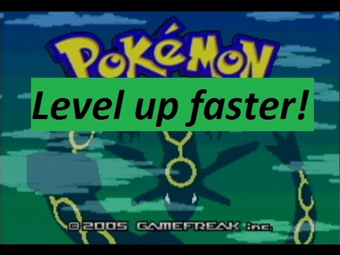 How to level up your pokemon faster in Emerald/Ruby/Sapphire