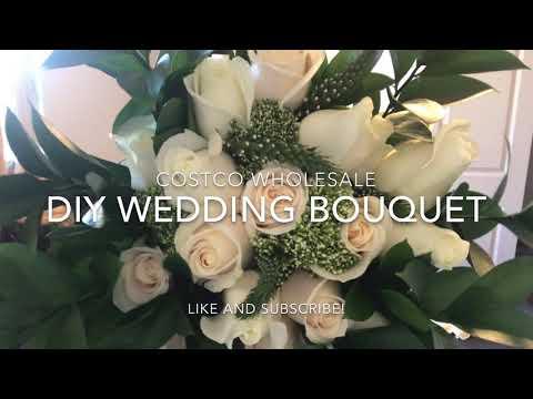 COSTCO FLOWERS DIY WEDDING BOUQUET